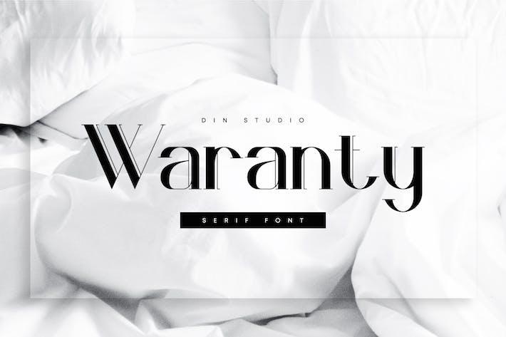 Thumbnail for Waranty-Elegant Serif Font