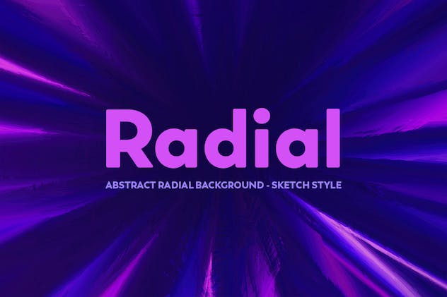 Abstract Radial background - Sketch Style