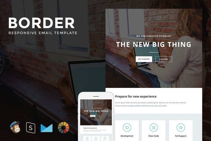 Thumbnail for Border - Responsive Email + StampReady Builder
