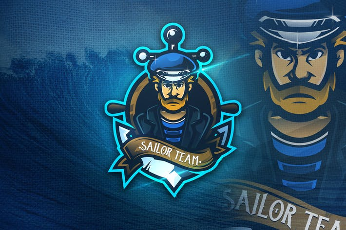 Thumbnail for Sailor Team - Mascot & Esport Logo