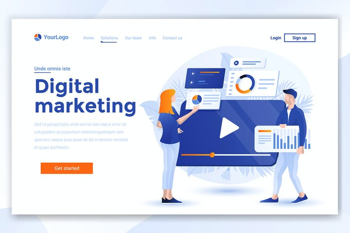 Thumbnail for Landing page template of Digital Marketing