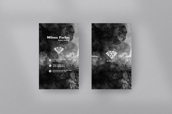 Thumbnail for Vertical Black Business Card. 33