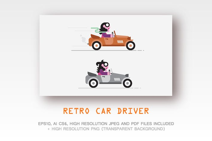 Thumbnail for Retro Car Driver vector illustration