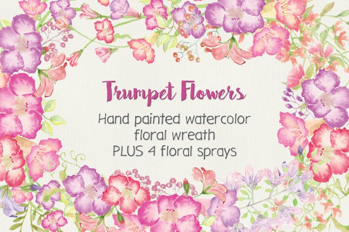 Thumbnail for Trumpet Flowers: Wreath and Sprays