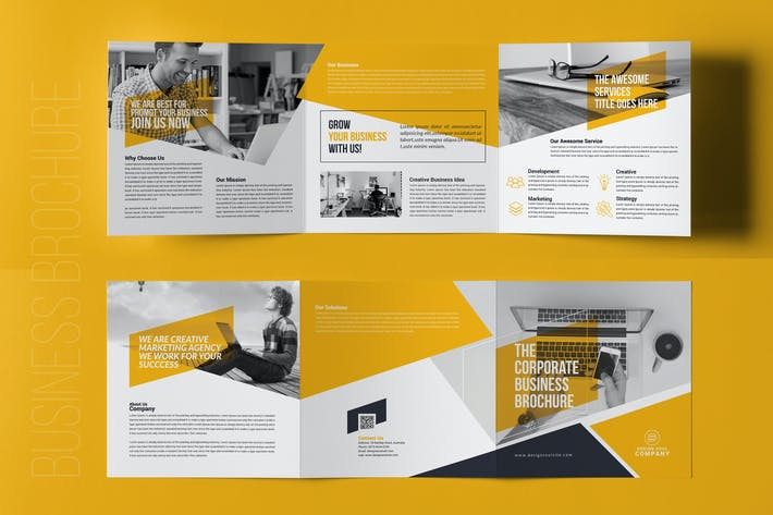 square trifold brochure by designsoul14 on envato elements