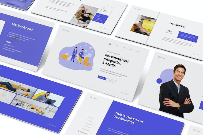Thumbnail for V-Media - Company Profile Google Slides Template