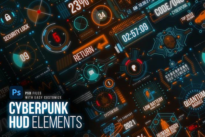 Cyberpunk HUD Elemente