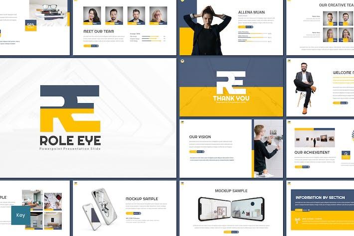 Thumbnail for Roll Eye - Шаблон Keynote для бизнеса
