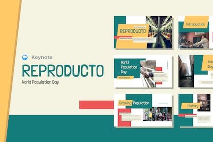 REPRODUCTO - Шаблон Keynote Всемирного дня народонаселения
