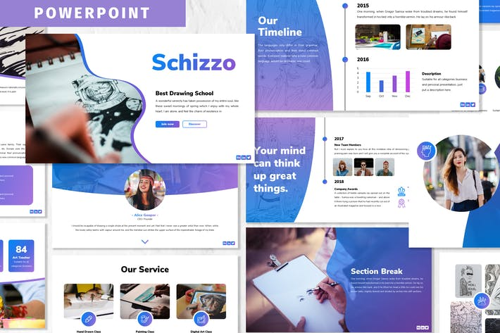 Thumbnail for Schizzo - Powerpoint Template