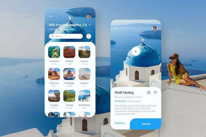 Thumbnail for Travel Mobile App UI - N