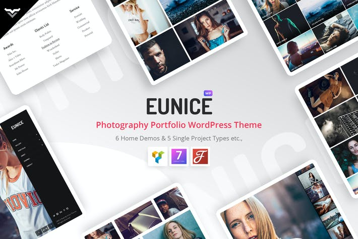 Thumbnail for Eunice - Fotografie-Portfolio WordPress Thema