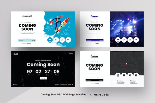 MUlti-Concept Coming Soon PSD Web Template Kit