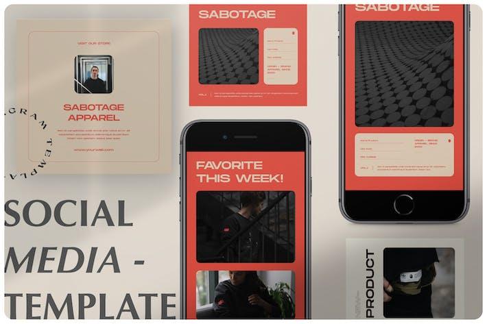 Social Media Instagram Story & Post Vol.1