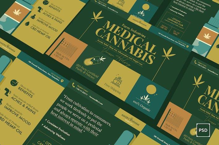 Thumbnail for Cannabis Hemp Oil Products A5 Flyer