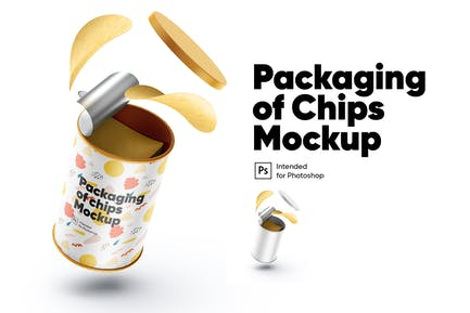Packaging of Chips Mockup
