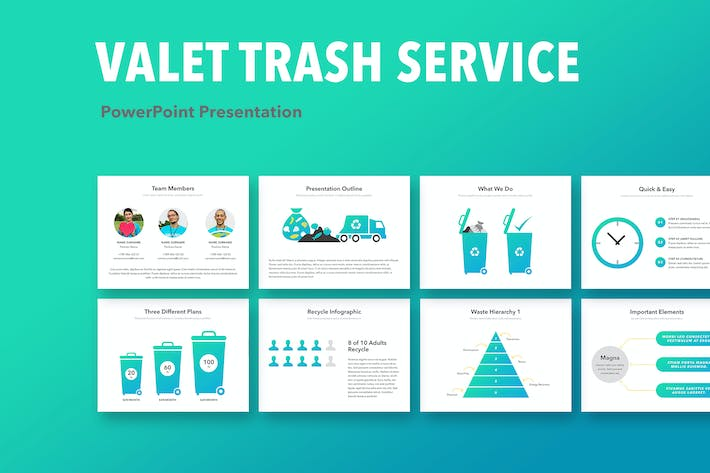 Thumbnail for Valet Trash Service PowerPoint Vorlage