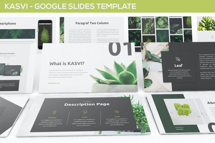 Thumbnail for KASVI - Nature Google Slides Template