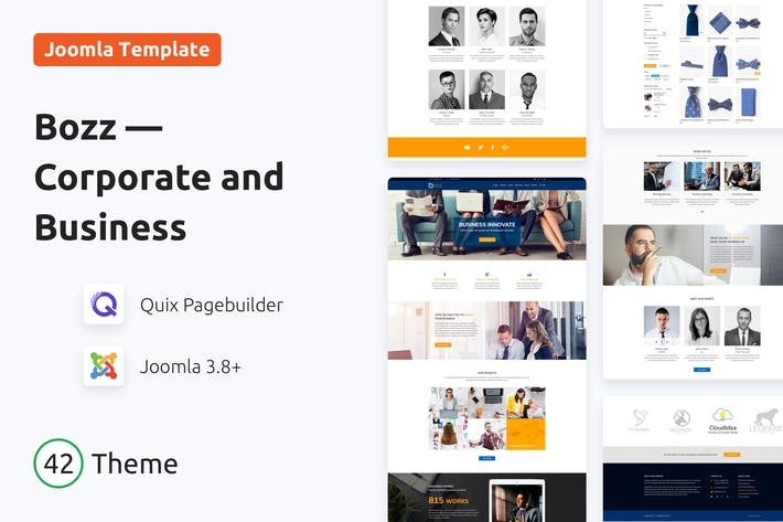 Thumbnail for Bozz — Corporate and Business Responsive Template