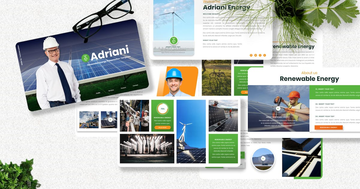 Download Adriani - Alternate Power Powerpoint Template by Yumnacreative