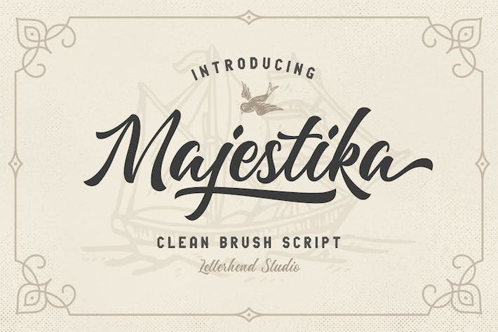 Thumbnail for Majestika - Clean Brush Script
