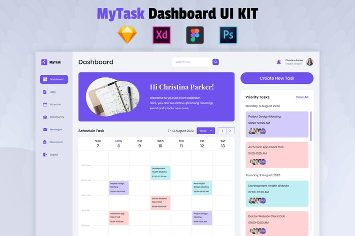Thumbnail for Nuzie - Task Management Dashboard