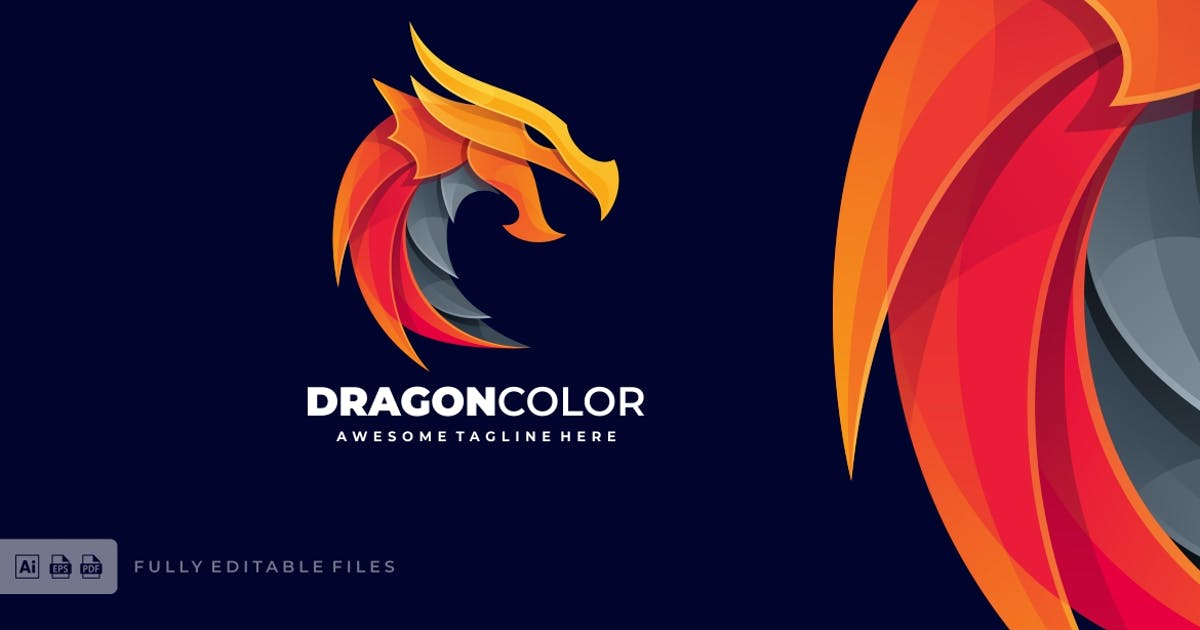 Download Dragon Fire Logo Vector Template by ivan_artnivora