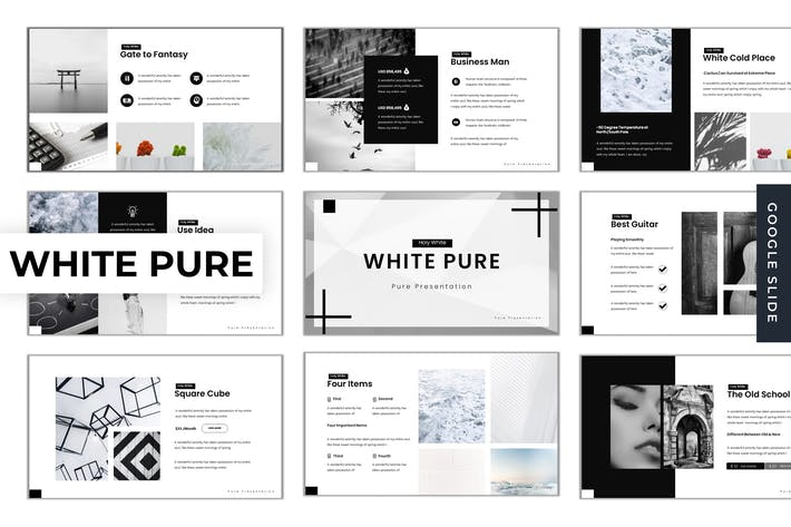 Thumbnail for White Pure - Google Slide Template