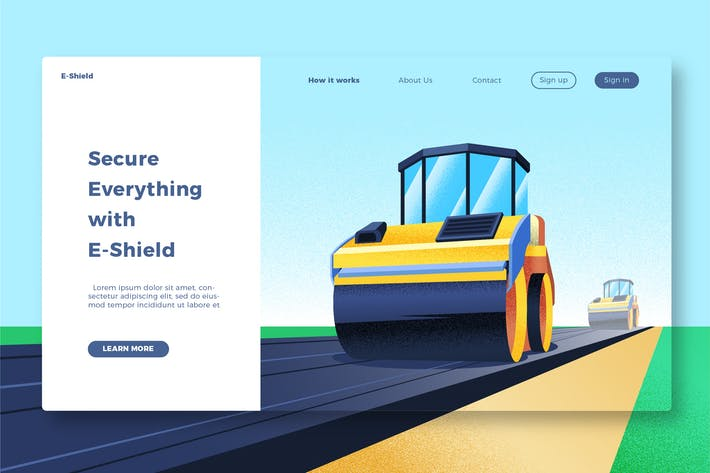 Cover Image For Construction - Banner & Landing Page