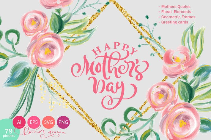 Thumbnail for Happy Mother`s Day Vector Flower SVG