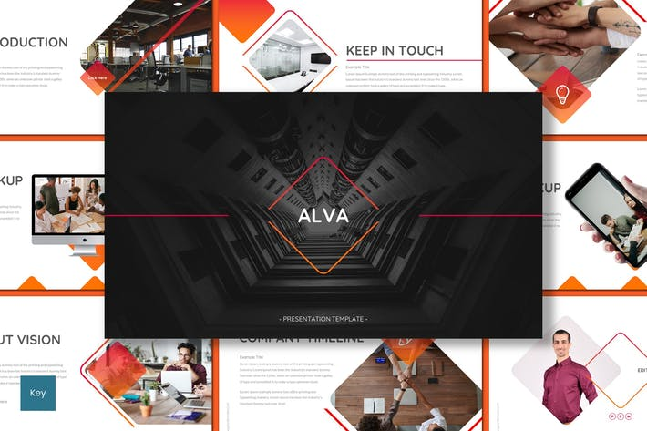 Thumbnail for Alva - Business Keynote Template