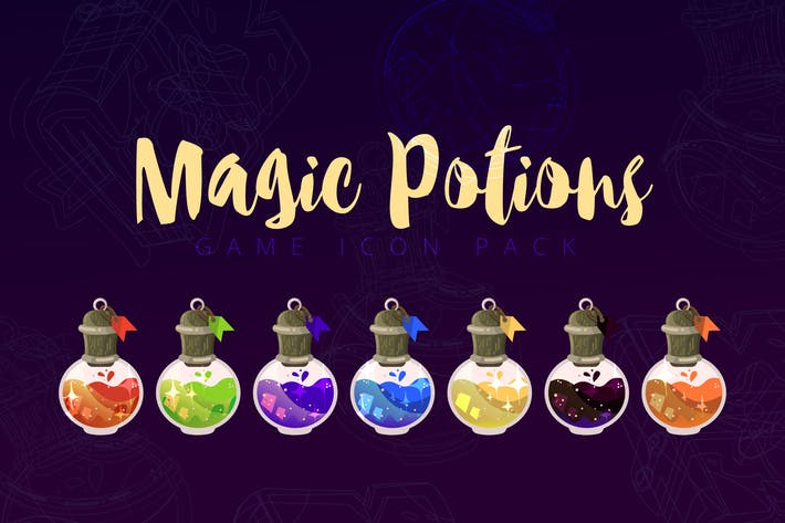 Magic Potions Game Icon Pack