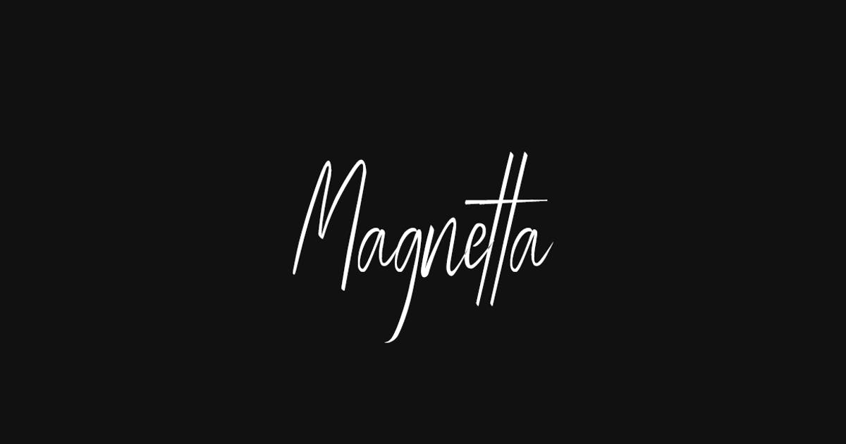 Download Magnetta - Handwritten Luxury / Signature Font by designova