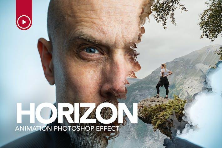 Thumbnail for Gif Animated Horizon Photoshop Action