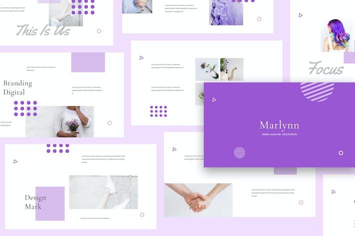 Thumbnail for Marlynn - Branding Guidelines Google Slides