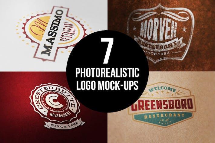 Thumbnail for 7 Photorealistic Logo Mock-Ups