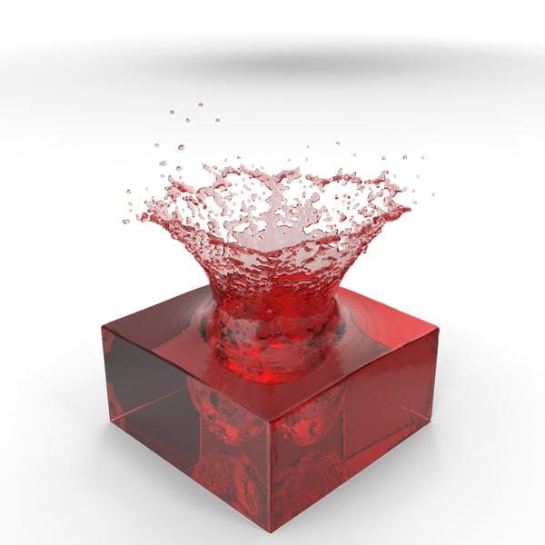 Красный всплеск воды