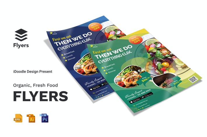 Thumbnail for Organic, Fresh Food Flyer