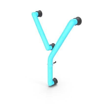 Neon-Buchstabe Y