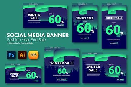 Winter End Sale – Social Media Banner Template
