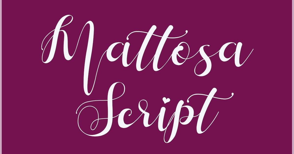 Download Mattosa Script by aldedesign