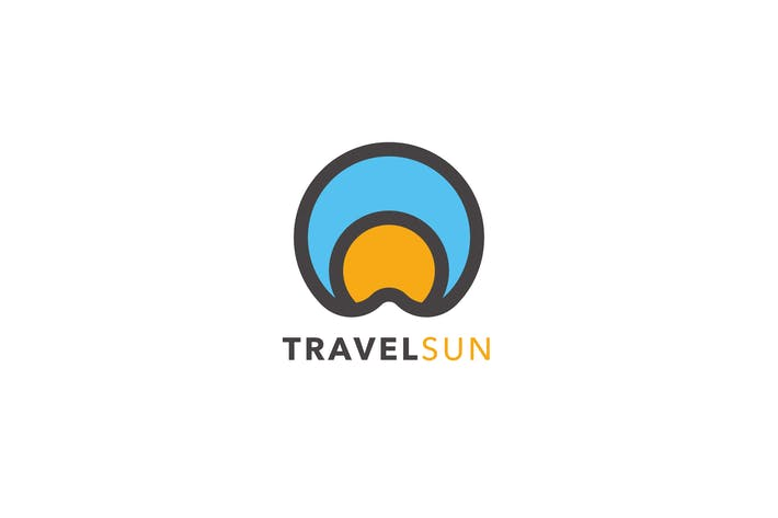 Thumbnail for Travel Sun Logo Template