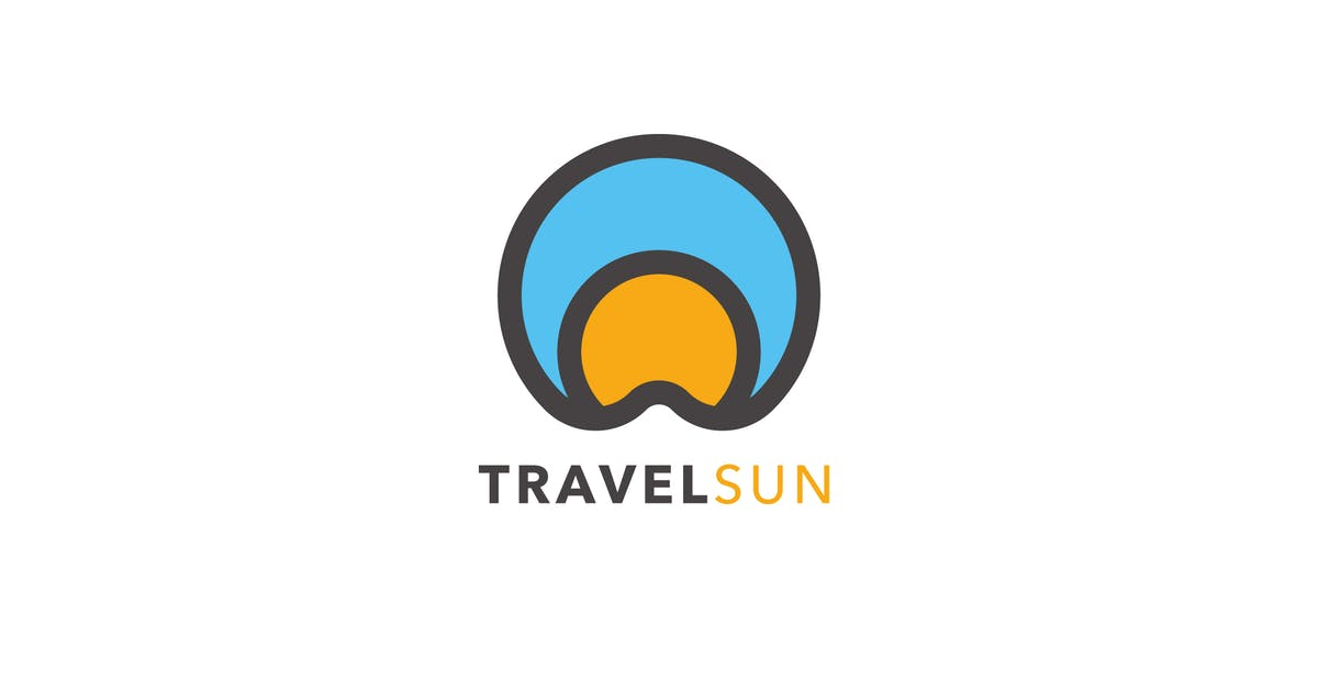 Download Travel Sun Logo Template by MuseFrame