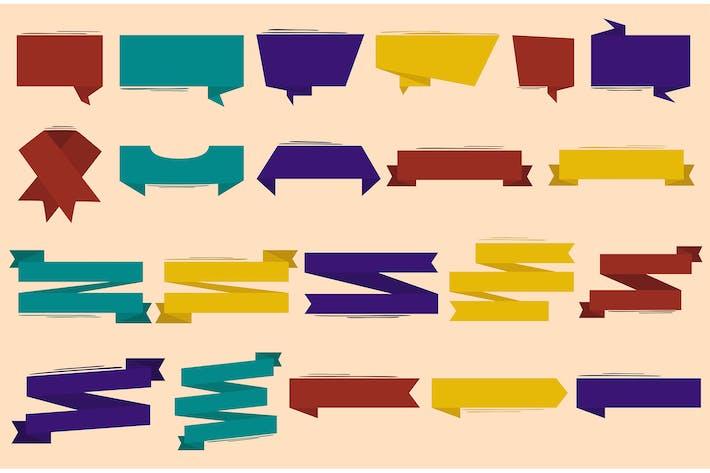 Ribbon Elements Illustration