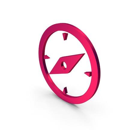 Symbol Compass Metallic