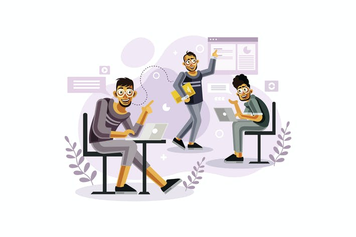 Thumbnail for Teamwork at creative office