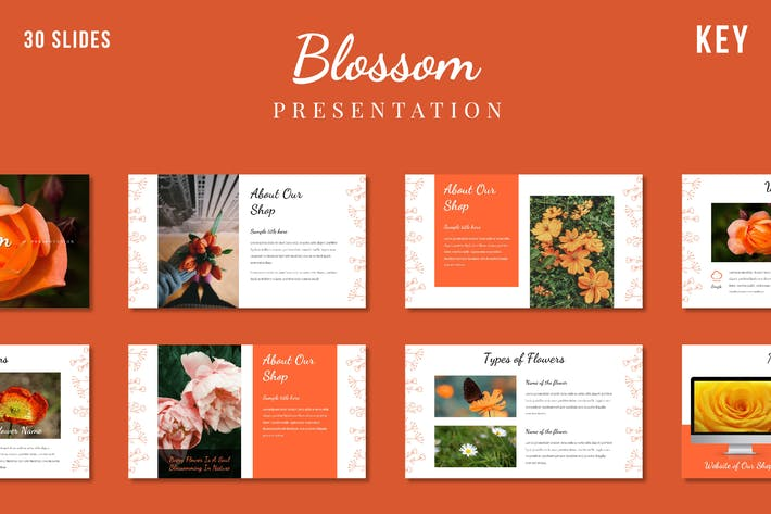Blossom Flower Presentation Template - (KEY)