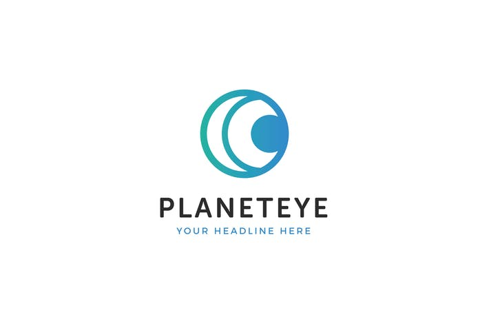 Thumbnail for Planet Eye Logo Template