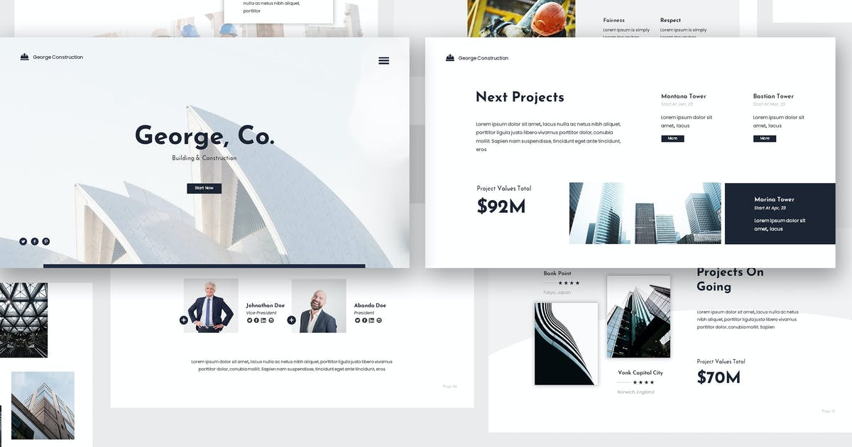 Download Modern Construction Keynote Presentation by giantdesign