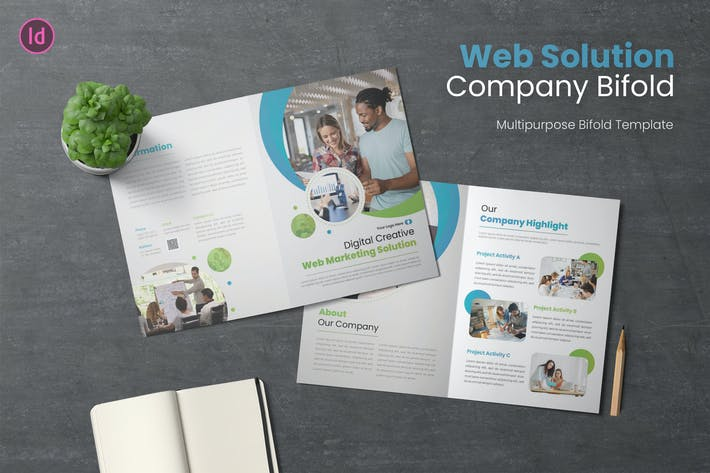 Web Solution Bifold Brochure
